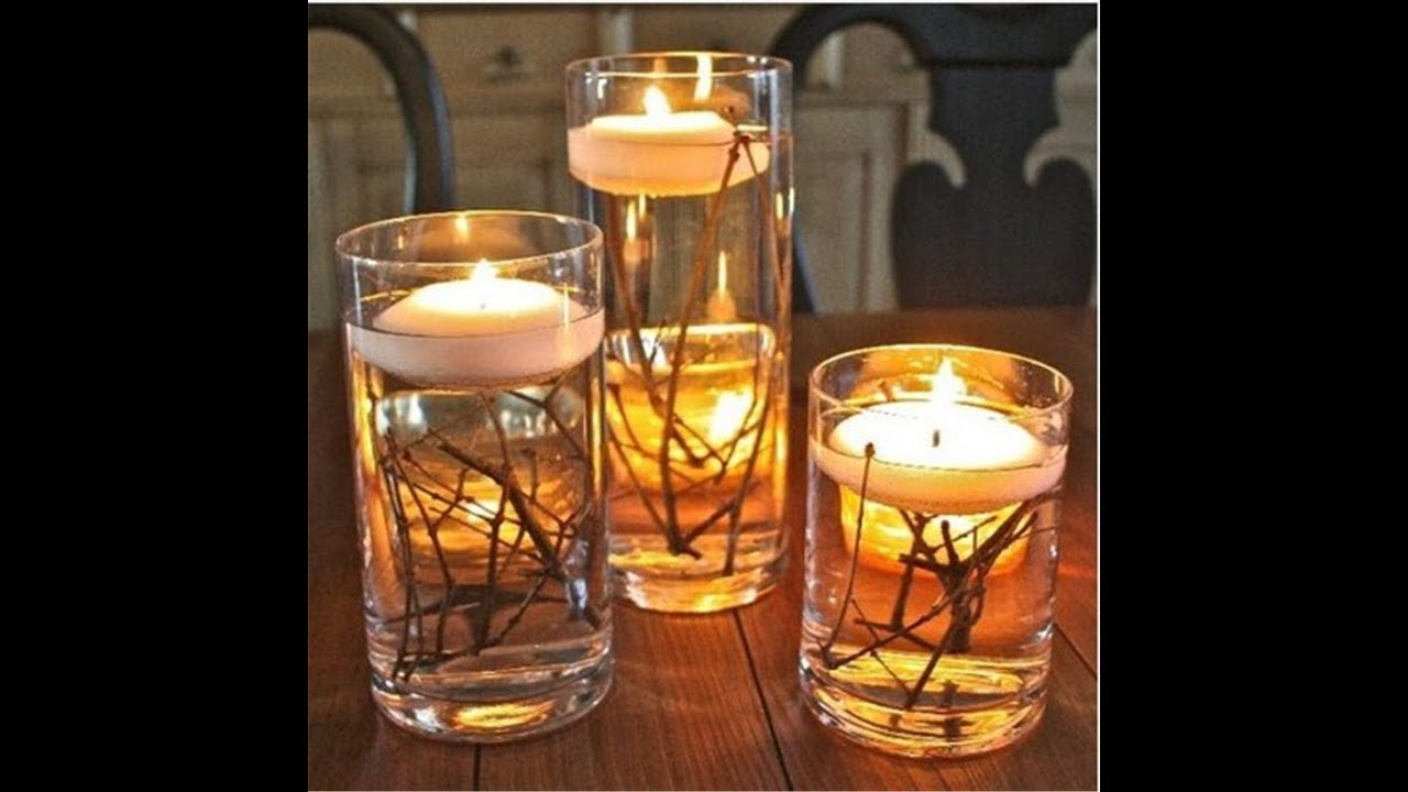 2017 Fall Wedding Candle Centerpiece Ideas