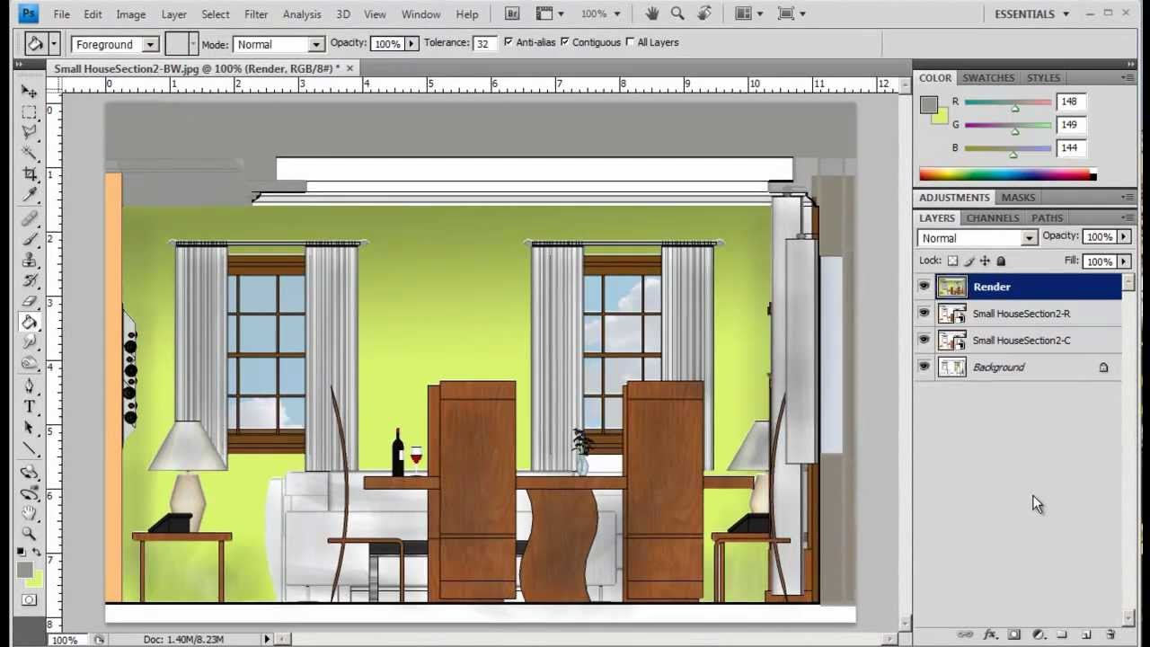 2012-PhotoShop Elevation Rendering Part B.mp4 - YouTube