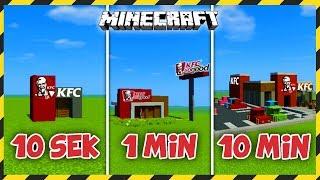 MINECRAFT: Budujemy KFC w 10 SEKUND, 1 MINUTĘ i 10 MINUT!