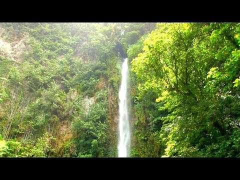 CARIBBEAN Meditation Scene - Victoria Waterfalls - DOMINICA, The Island of Discovery