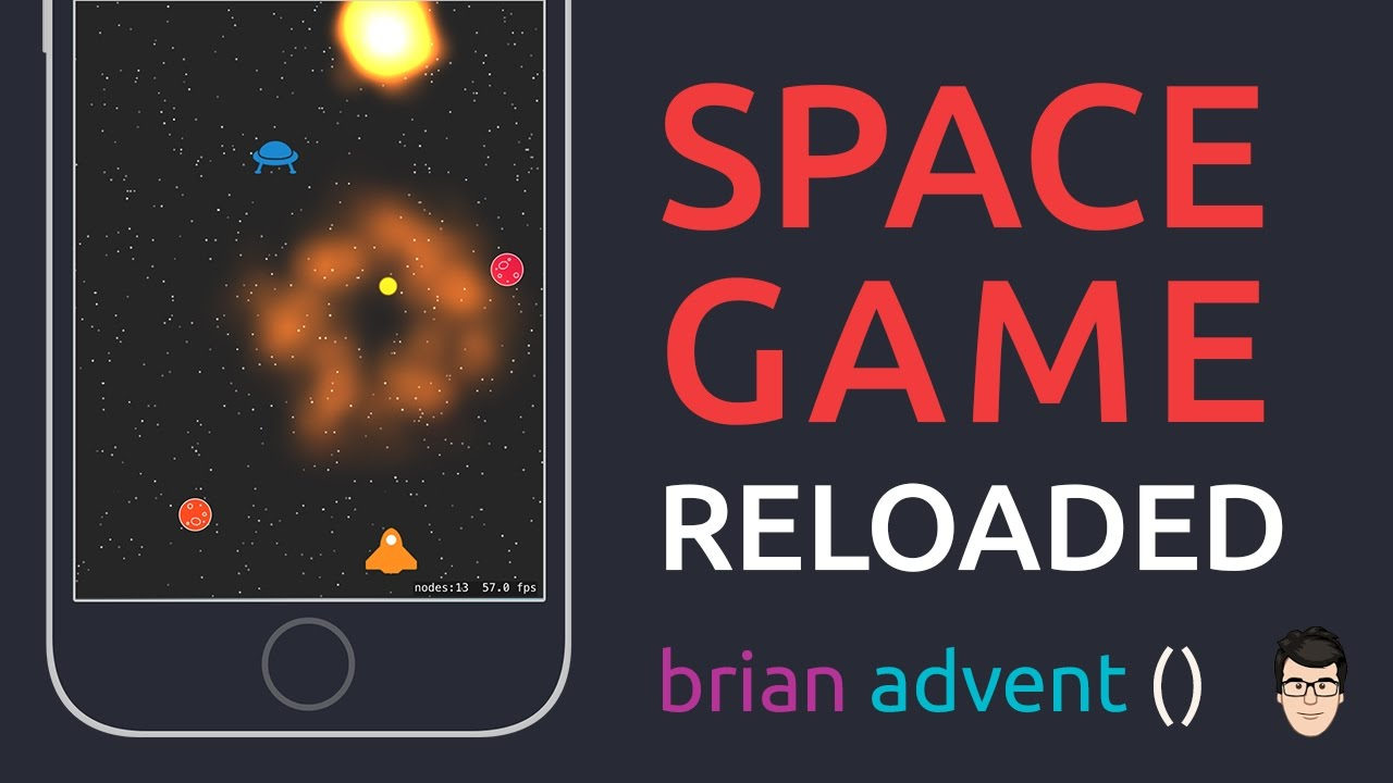 ios swift game tutorial: spritekit space game (with explosions