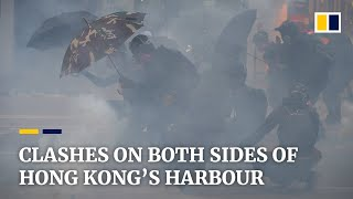 Protesters And Hong Kong Police Clash In Violent Stand-offs On Both Sides Of Victoria Harbour