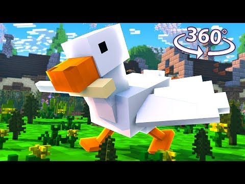 Untitled Goose Game in 360° – A Minecraft VR Video