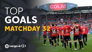 Todos los goles de la Jornada 32 de LaLiga 1 2 3 2018/2019