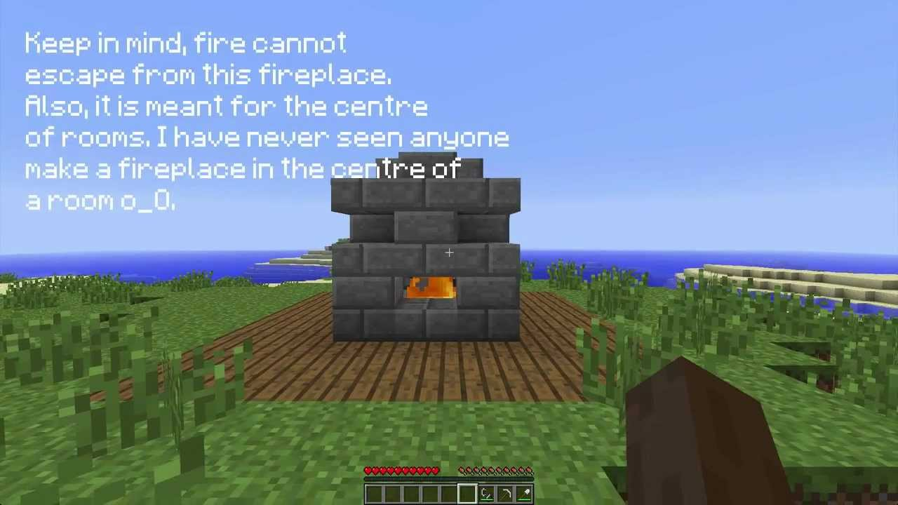 Minecraft: How To Make A Centre-Oriented Safe Indoor Fireplace ...