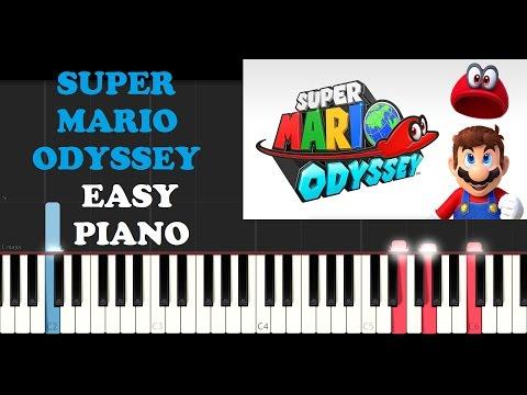 Super Mario Odyssey - Theme (Easy Piano Tutorial)