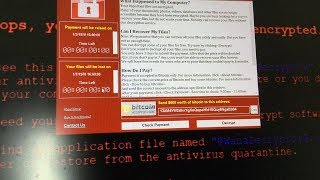 "What happens when you run ""WannaCry"" Ransomware in Windows 10"