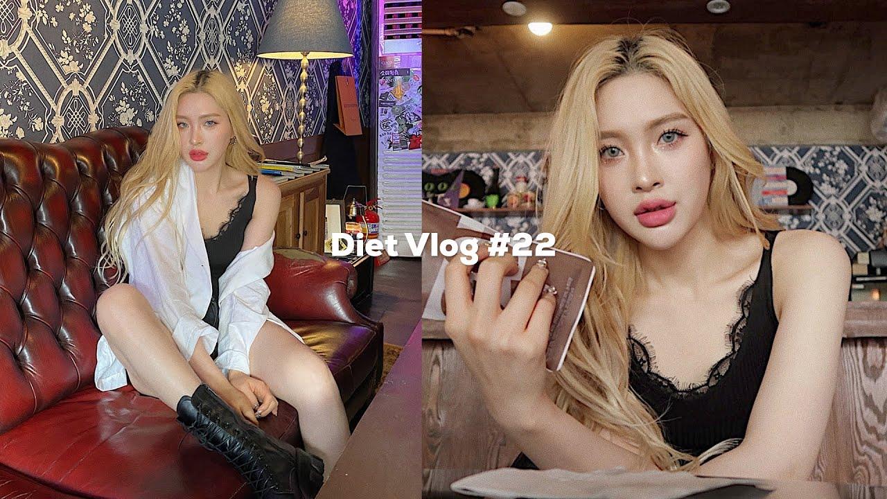 EN)Diet Vlog #22🥙 홍대간 날, 힙한 카페🤟🏻치팅데이