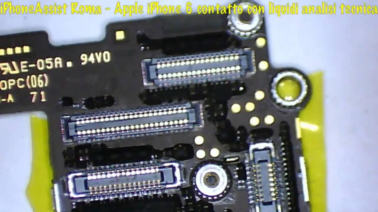 apple iphone 6 andato a contatto con liquidi non si accende e non carica youtube