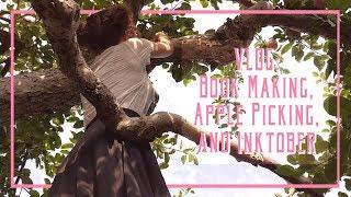VLOG: Book Making, Apple Picking, and Inktober! // 10-8-17 // BianaBova