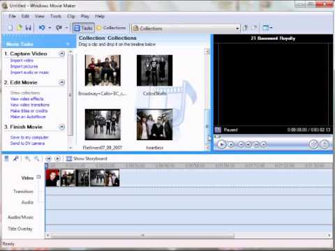 How to make a playlist of songs on movie maker