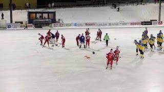 Final RUS-SWE  Boys 15 Bandy World Championships 30.1.2016