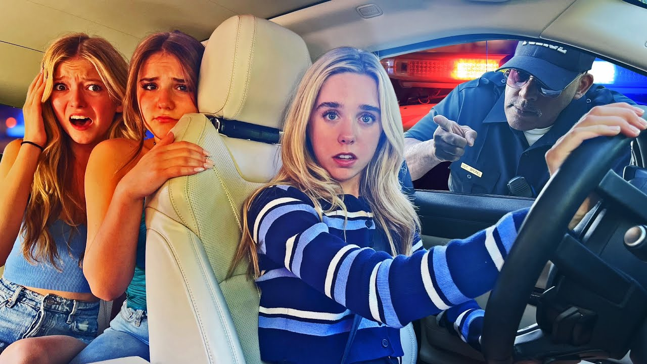I GOT PULLED OVER with My BEST FRIENDS In The Car PRANK **LIVE FOOTAGE**🚔😲 | Jenna Davis