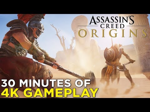 Assassin's Creed Origins on XBOX ONE X — 30 Minutes of GAMEPLAY! Combat, Quests, & More!