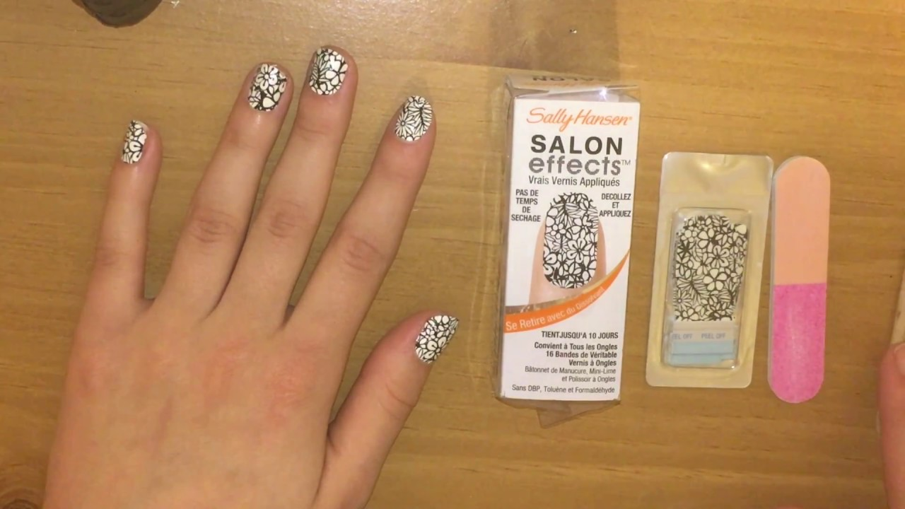 sally hansen polish strips tutorial  youtube
