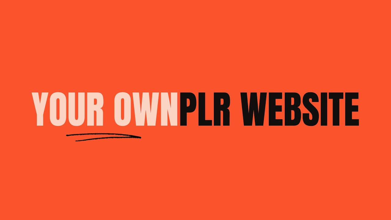 Discover the fastest way to have your own PLR website and start selling PLR eBooks.