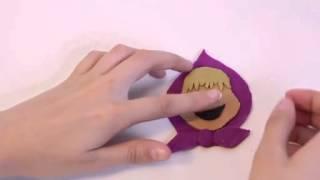 Видео урок как слепить Машу из пластилина Pley-Doh
