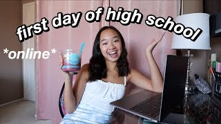 FIRST DAY OF HIGH SCHOOL *9th grade* (grwm & vlog) | Nicole Laeno