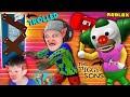 ROBLOX PIGGY-SONS TROLL! Krusty The Clown @ My School (FGTeeV SIMPSONS Escape Game)