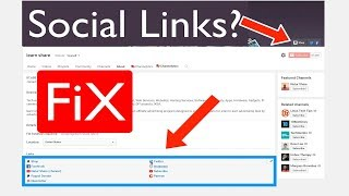 Can't Add Social Media Links Missing on Youtube Channel Layout