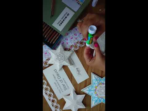 How To Craft 3 Dimensional Paper Star of David Decorations ♥️ by HaLeLuYa Jewish Soul Art