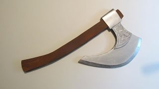 Make a Viking Axe out of Foamboard or Cardboard -Template Included