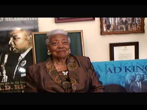 Mrs Naomi Barber King widow of Rev. A .D. King