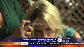 Jessica Holmes - live hair color demo failure