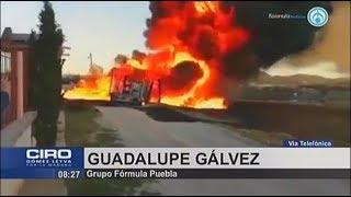 Se registra incendio de toma clandestina en Huauchinango, Pueblaa puebla