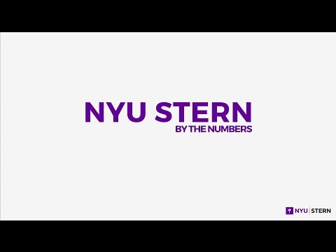 NYU Stern ... By The Numbers