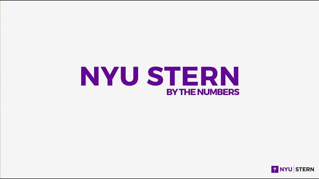 NYU Stern By The Numbers