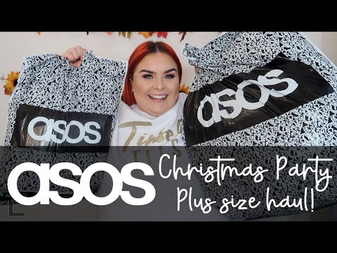 I SPENT £500+ ON ASOS CHRISTMAS PARTY DRESSES // HUGE ASOS CURVE UK HAUL & TRY ON