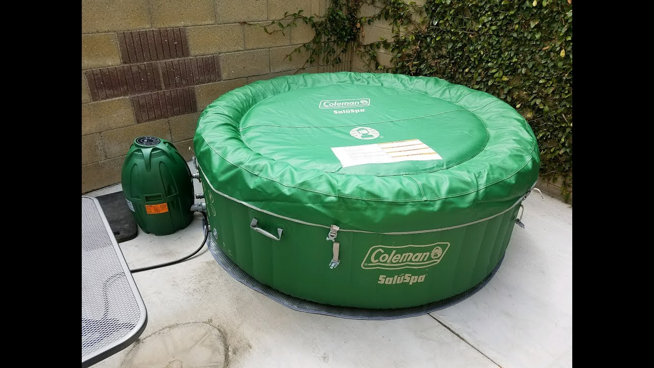 Coleman Inflatable Hot Tub Review Youtube
