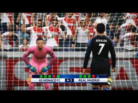 AS MONACO vs REAL MADRID | Penalty Shootout | PES 2017 Gameplay | UEFA Champions League