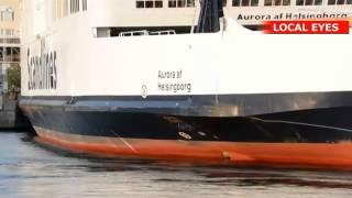 Alarm: Vidne så mand falde over bord fra Scandlines færge