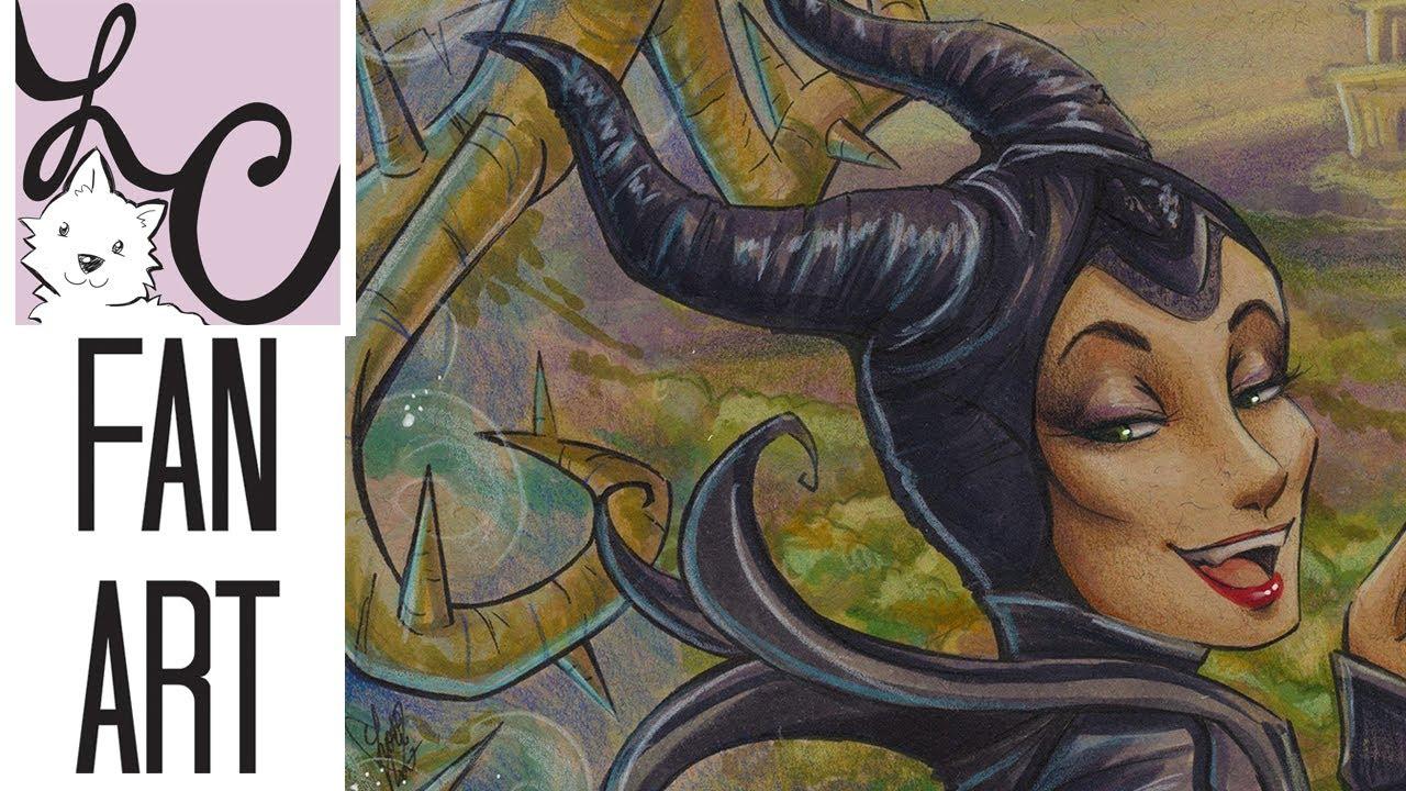 Disney S Maleficent Diaval Fan Art Copic Marker Colored Pencil Coloring