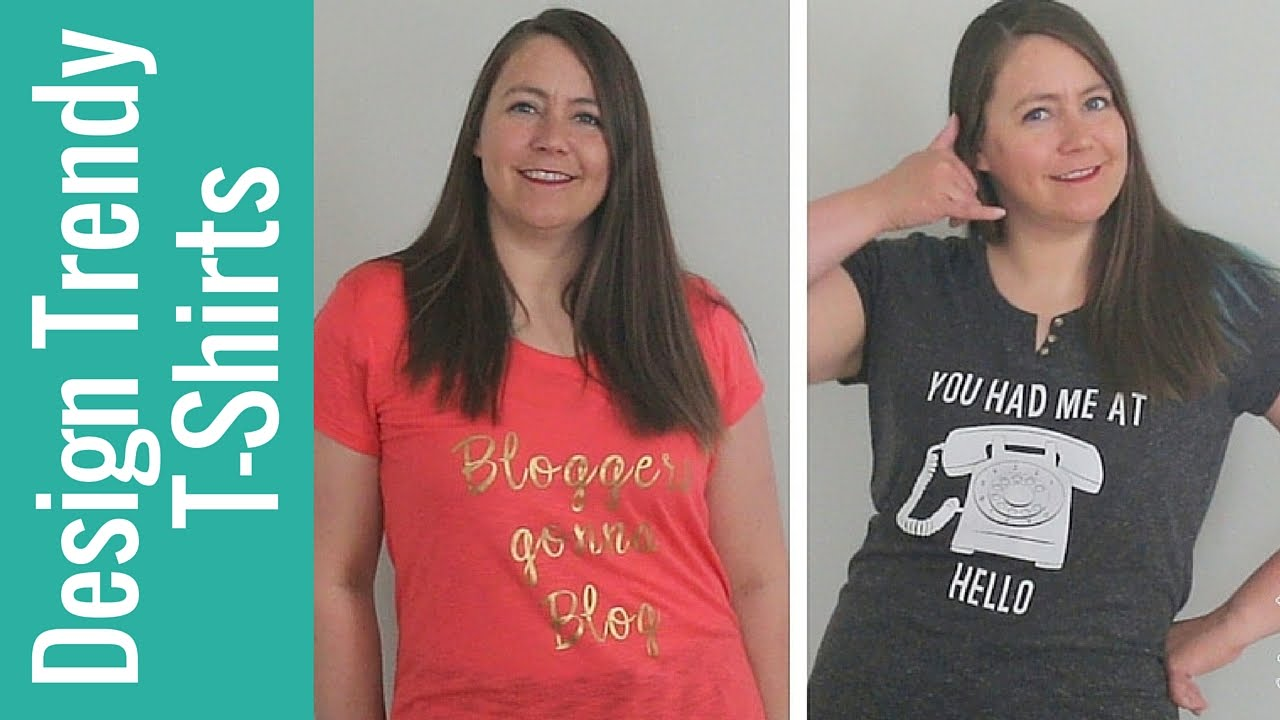 9a4d831c How to Design Trendy T-shirts with Cricut - YouTube