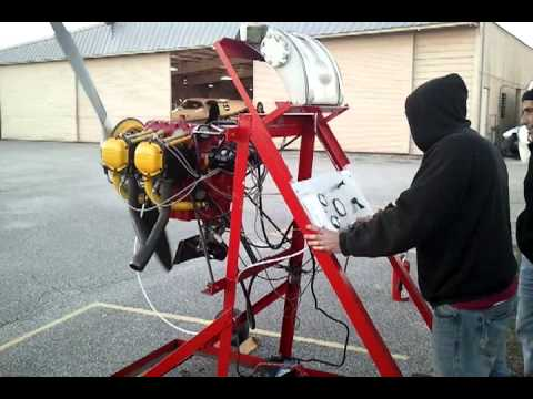 Lycoming engine run up - Test stand