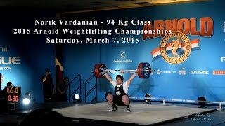 Norik Vardanian Lifting at the 2015 Arnold Weightlifting Championships
