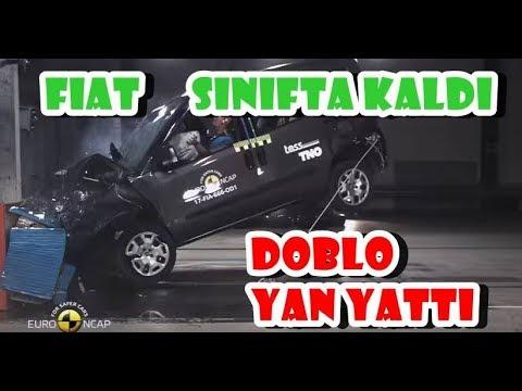 FIAT DOBLO KAZADA YAN YATTI. NCAP TESTINDE SINIFTA KALDI !!! Kendi yorumum
