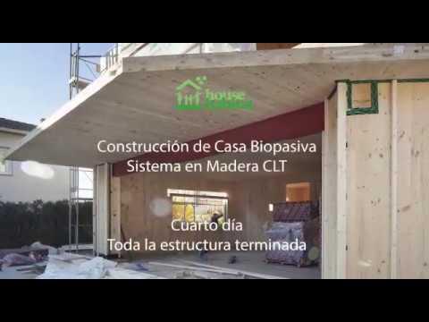 Estructura casa madera Barcelona House Habitat terminada en 4 días