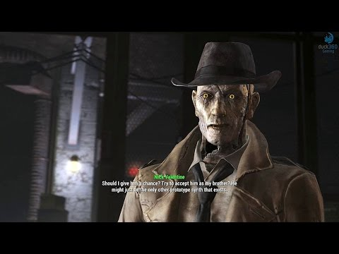 Fallout 4 Far Harbor Nick Valentine and his brother DiMa