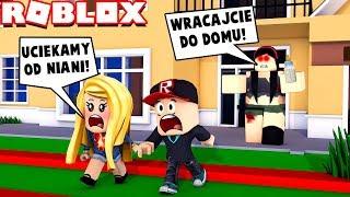 ROBLOX - UCIEKAMY OD ZŁEJ NIANI!!! 😱 (Evil Babysitter Obby) | Vito i Bella