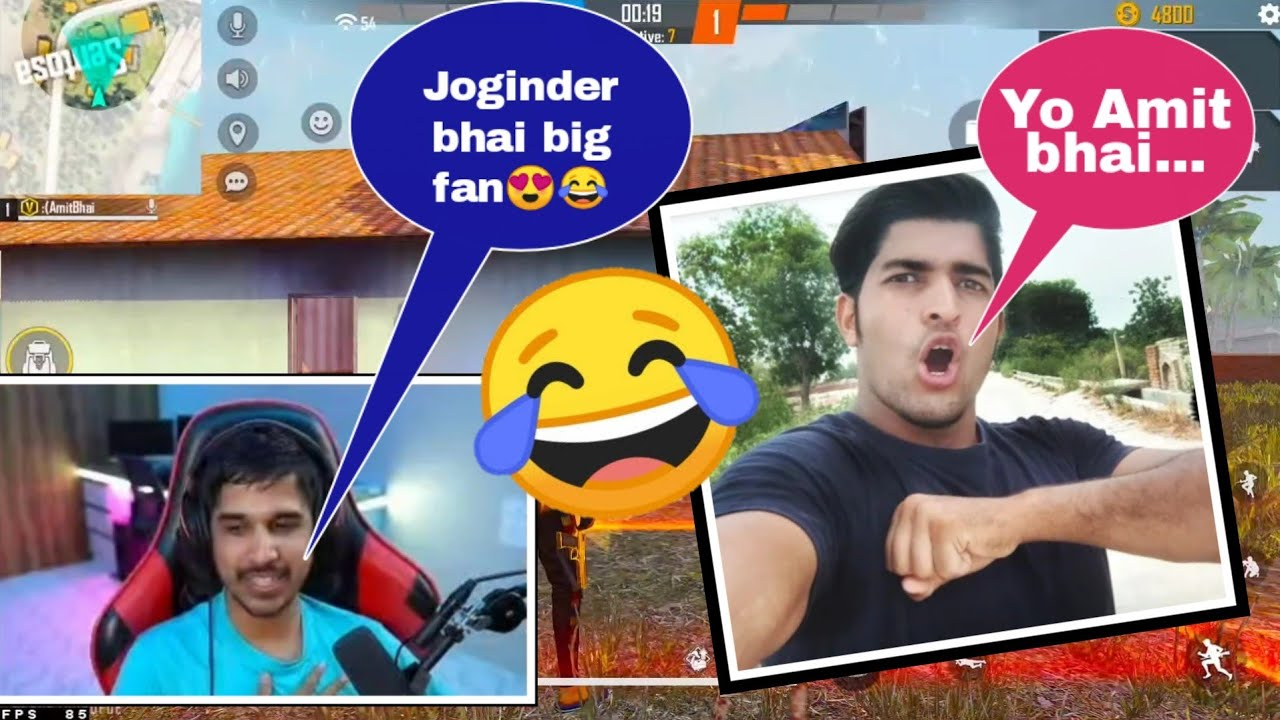 "Amit bhai meme dialogue ""o chapri Youtuber😂😳""| Desi Gamer lol moment 😆 #shorts #freefire #amitbhai"