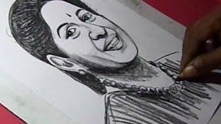 How to Draw MALLIKA SRINIVASAN(CEO of TAFE Tractors) Drawing