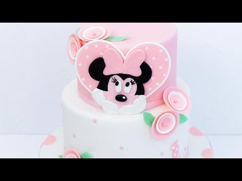 Minnie Mouse Torte / SUPER süße zweistöckige Walt Disney Motivtorte #Leonor's