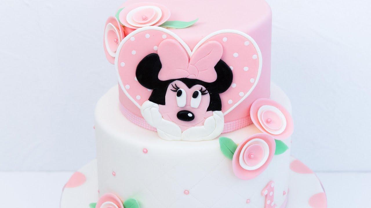 Minnie Mouse Torte Super Susse Zweistockige Walt Disney Motivtorte