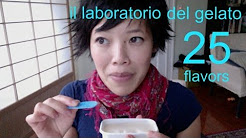 Emmy Eats 25 flavors of Il Laboratorio del Gelato