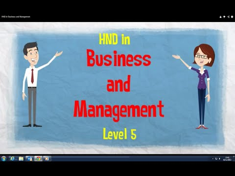 HND in Business and Management