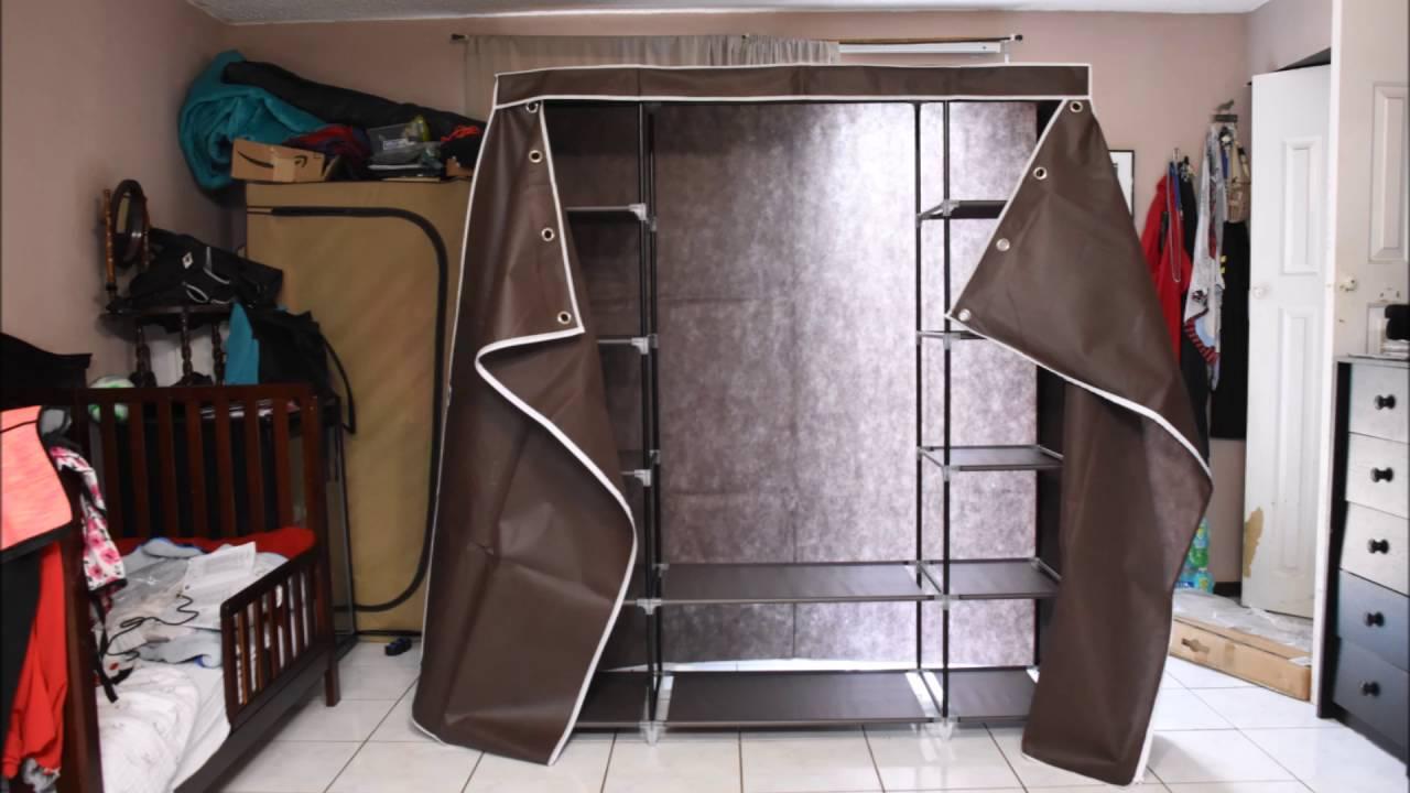 59 portable closet wardrobe storage organizer songmics youtube - Portable Wardrobe Closet